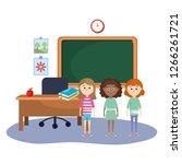elementary school cartoon | Shutterstock .eps vector #1266261721