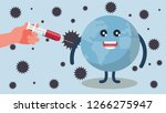 global vaccination  hand with... | Shutterstock .eps vector #1266275947