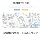 linear banner of the... | Shutterstock .eps vector #1266276214