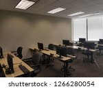 empty computer classroom with... | Shutterstock . vector #1266280054