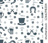 seamless pattern with clover... | Shutterstock .eps vector #1266298204