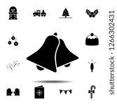 bells icon. simple glyph vector ...