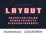 cool vector 3d design of... | Shutterstock .eps vector #1266303904