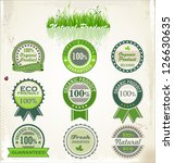 eco and bio labels | Shutterstock .eps vector #126630635