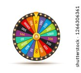 wheel of fortune lottery luck... | Shutterstock .eps vector #1266306361