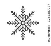 snowflake icon  isolated. flat... | Shutterstock .eps vector #1266307777