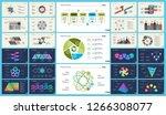 set of workflow or teamwork... | Shutterstock .eps vector #1266308077