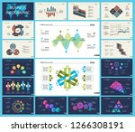 set of analysis or teamwork... | Shutterstock .eps vector #1266308191