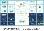 business presentation slide... | Shutterstock .eps vector #1266308314