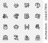 bribery icon set. outline set... | Shutterstock .eps vector #1266317854
