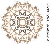 mandala pattern. traditional... | Shutterstock .eps vector #1266318214