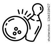 strike shot icon. outline... | Shutterstock .eps vector #1266318427