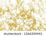 gold splashes texture. brush...   Shutterstock . vector #1266334441