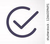 check vector icon   Shutterstock .eps vector #1266339691
