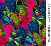summer exotic seamless pattern. ... | Shutterstock . vector #1266354634