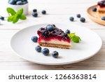 homemade blueberry cheese cake... | Shutterstock . vector #1266363814