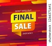 yellow orange tag final sale... | Shutterstock .eps vector #1266371641