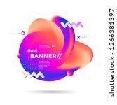 creative design fluid banner... | Shutterstock .eps vector #1266381397
