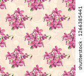 seamless floral pattern with... | Shutterstock .eps vector #1266385441