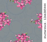seamless floral pattern with... | Shutterstock .eps vector #1266385444