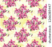 seamless floral pattern with... | Shutterstock .eps vector #1266385447