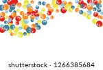 cute floral pattern with simple ... | Shutterstock .eps vector #1266385684