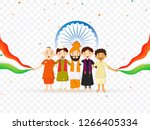 different religion people... | Shutterstock .eps vector #1266405334