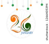 creative tricolor text of 26... | Shutterstock .eps vector #1266405394