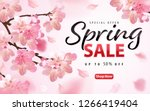 enjoy spring sale with blooming ... | Shutterstock .eps vector #1266419404