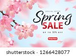 enjoy spring sale with blooming ... | Shutterstock .eps vector #1266428077