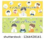 influenza prevention vector... | Shutterstock .eps vector #1266428161