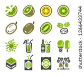 kiwi icon set vector and...   Shutterstock .eps vector #1266433744