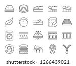 mattress line icon set.... | Shutterstock .eps vector #1266439021