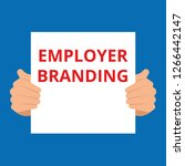 writing text showing employer... | Shutterstock .eps vector #1266442147