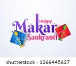 stylish text happy makar... | Shutterstock .eps vector #1266445627