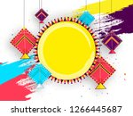 colorful kites hanging on... | Shutterstock .eps vector #1266445687