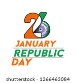 indian republic day concept... | Shutterstock .eps vector #1266463084