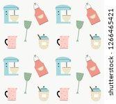 pattern cooking vector pattern   Shutterstock .eps vector #1266465421