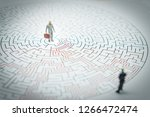 miniature people businessman... | Shutterstock . vector #1266472474