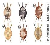 african zulu assegai spear... | Shutterstock .eps vector #1266478837