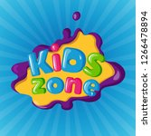 kids zone logotype on color... | Shutterstock .eps vector #1266478894