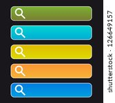 search buttons on a  black... | Shutterstock .eps vector #126649157