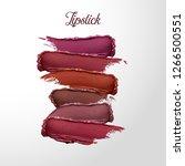 curvy lipstick smear set ... | Shutterstock .eps vector #1266500551