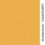 waffle seamless pattern vector...   Shutterstock .eps vector #1266502897