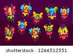 cartoon kids color numbers set. ... | Shutterstock .eps vector #1266512551