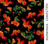 seamless pattern with red... | Shutterstock . vector #1266517354