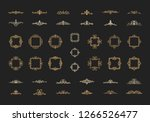 vintage decor elements and... | Shutterstock .eps vector #1266526477