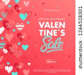 valentines day special offer... | Shutterstock .eps vector #1266528301