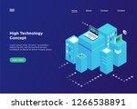 high technology concept.... | Shutterstock .eps vector #1266538891