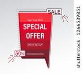 sale  special offer banner. | Shutterstock .eps vector #1266539851